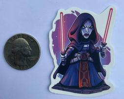 Star Wars Asajj Ventress Chibi Style Laptop Vinyl Sticker De