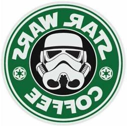 Star Wars Coffee Funny Sticker spoof storm laptop decal troo