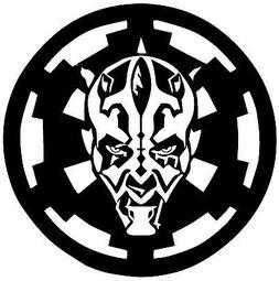 Star Wars Darth Maul over Empire Sticker Vinyl Decal Car Lap