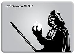 Star Wars Darth Vader Holding Apple Macbook Decal Vinyl Stic