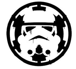star wars storm trooper over empire sticker