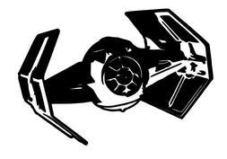 Star Wars Tie Fighter Vinyl Car Window Laptop Decal Sticker
