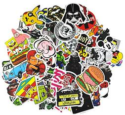 Sticker Pack 100Pcs,KONLOY Waterproof Vinyl Stickers for Wat