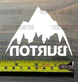 Burton Sticker Decal Die Cut Snowboards American Mountain Cu
