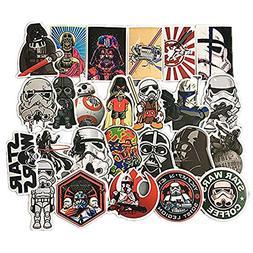 Homyu Stickers Star Wars 25 Pcs PVC Stickers Waterproof Sunl