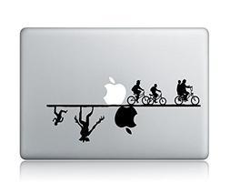 stranger things apple macbook laptop