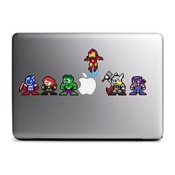 8-Bit Superhero Set Decals for MacBook, iPad Mini, iPhone 5S