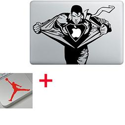 Superman Man of Steel Cartoon Character Decal Sticker for Ap