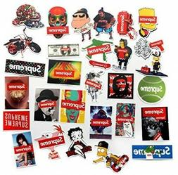 Supreme Stickers Pack FNGEEN Laptop Stickers Bomb Motorcycle