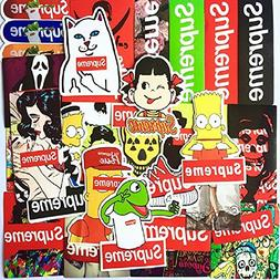 Supreme Stickers Waterproof 25Pcs Children Adult Teens Teach