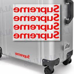 Supreme4 Sticker Box Waterproof Phone Laptop Backpack Skateb