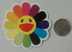 Takashi Murakami sticker  rainbow flower skate cell laptop d