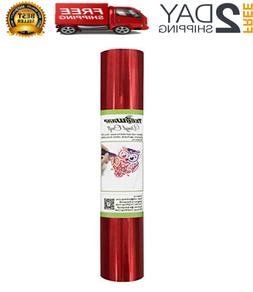 TECKWRAP Chrome Red Adhesive Craft Vinyl Roll 1ftx5ft