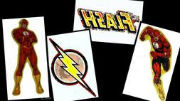 THE FLASH LOGO LAPTOP STICKER DECAL~DC COMICS SUPERHERO~BOGO