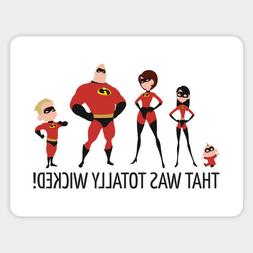 The Incredibles Cartoon Car Bumper Laptop Sticker Decal Supe