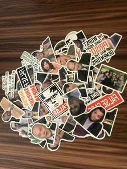 THE OFFICE 50 pcs Assorted Vinyl Laptop Luggage Sticker Lot.