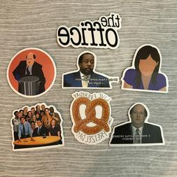 The OFFICE 7 Stickers~KEVIN,Stanley,PRETZEL~Erin~TV Show Lap