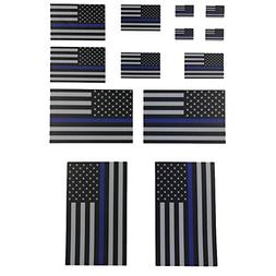 Thin Blue Line Flag Decals - . Black, White, and Blue Americ