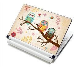 Three Owls Fashion Netbook Laptop Skin Sticker Reusable Prot