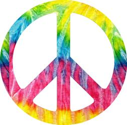 Tie Dye Peace Sticker Planner Book  Laptop peace sign hippy