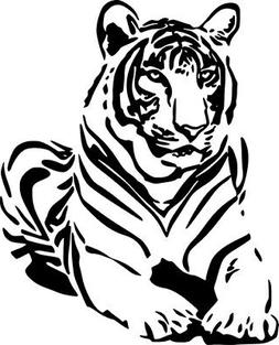 Tiger Wild Animal Art Graphic Wall Decal Car Truck Window La