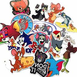 Tom And Jerry Stickers Skateboard Vinyl Decals Laptop Luggag