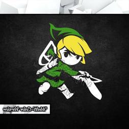 Toon Link Legend of Zelda Vinyl Decal Sticker