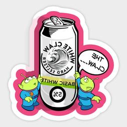 Toy Story Green Alien White Seltzer Claw Vinyl Sticker Bottl