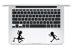 Trackpad Rick And Morty Running Apple Macbook Laptop Vinyl S