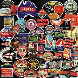 Travel Hotel Stickers 50+ Vintage Designs! Retro Luggage Wal