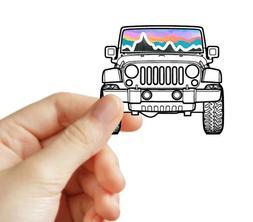 Travel Jeep Handmade VSCO Sticker Laptop Mac book Water Bott
