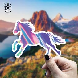 Trippy Horse Vinyl Sticker - Laptop Sticker / Water Bottle S