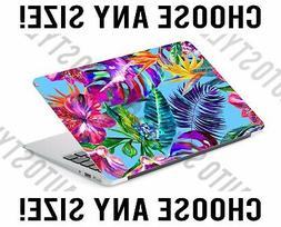 Tropical Flowers Palm Leaf Laptop Skin Decal Sticker Tablet