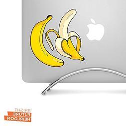 "Two bananas - 5"" printed vinyl decal - for MacBook, laptop,"