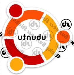 Ubuntu Linux Penguin Logo 3 inch Vinyl Sticker Computer Codi