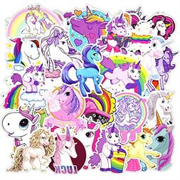 30 Pcs Unicorns Cool Laptop Sticker for iPhone MacBook Car M