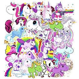 50 Pcs Unicorns Laptop Stickers, Car Bumper Stickers for Mot