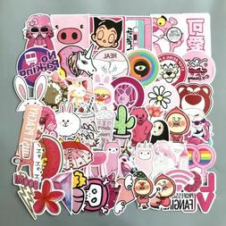 US SELLER, 50 Laptop Kids Cars girly pink vinyl stickers