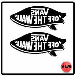 Vans Surf/Skatebord Off The Wall Sticker X2, Xbox,PC,PS4,Lap