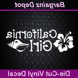 Vinyl Decal.. CALIFORNIA GIRL.. Cali Socal Nocal Flower Shel