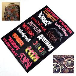 Vinyl Decal Heavy Metal Metallic Band Logo Rock Music Sticke