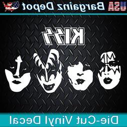 Vinyl Decal ... KISS .. Band Faces Car Laptop Sticker Vinyl