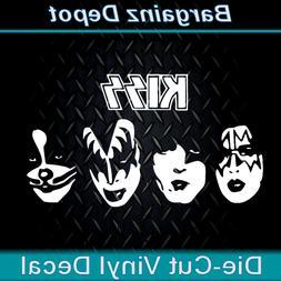 vinyl decal kiss band faces car laptop