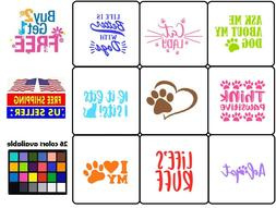 Vinyl Decal Sticker Pets Lover A Dogs Cats Lovers Home Wall
