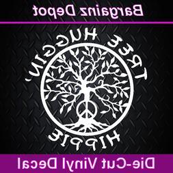 Vinyl Decal * TREE HUGGIN' HIPPIE * Tree of Life Zen Nature