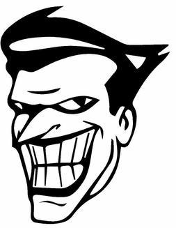 Vinyl Decal Truck Car Sticker Laptop Window DC Batman Joker Skull