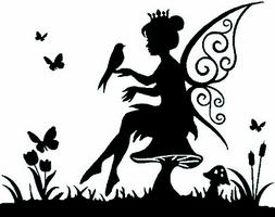 Vinyl Fairy Sticker/Wall/Laptop/Tablet /Car Decal + More Col