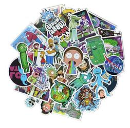 50 Pieces Vinyl Personalize Laptop Stickers, Rick and Morty