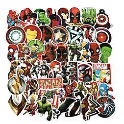 Vinyl Luggage Stickers, Echeer Superheroes PVC Waterproof St