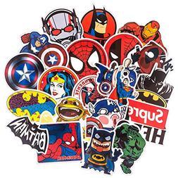 Vinyl Stickers, Cool Superhero Sticker for Laptop Computer P